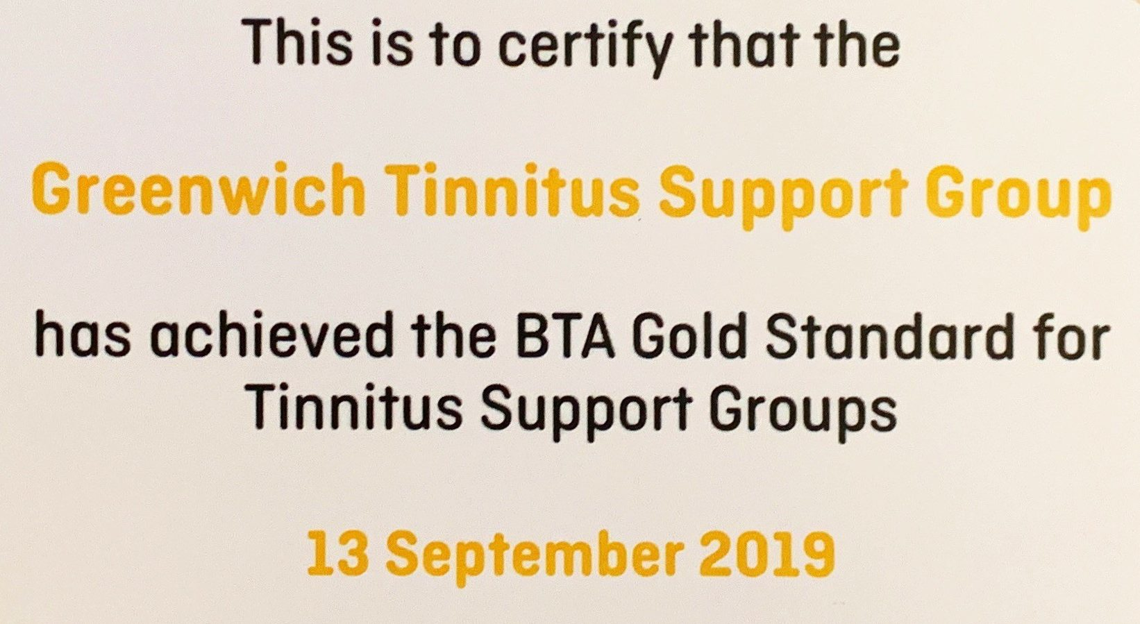Tinnitus Rooms Awarded Gold Standard by British Tinnitus Association