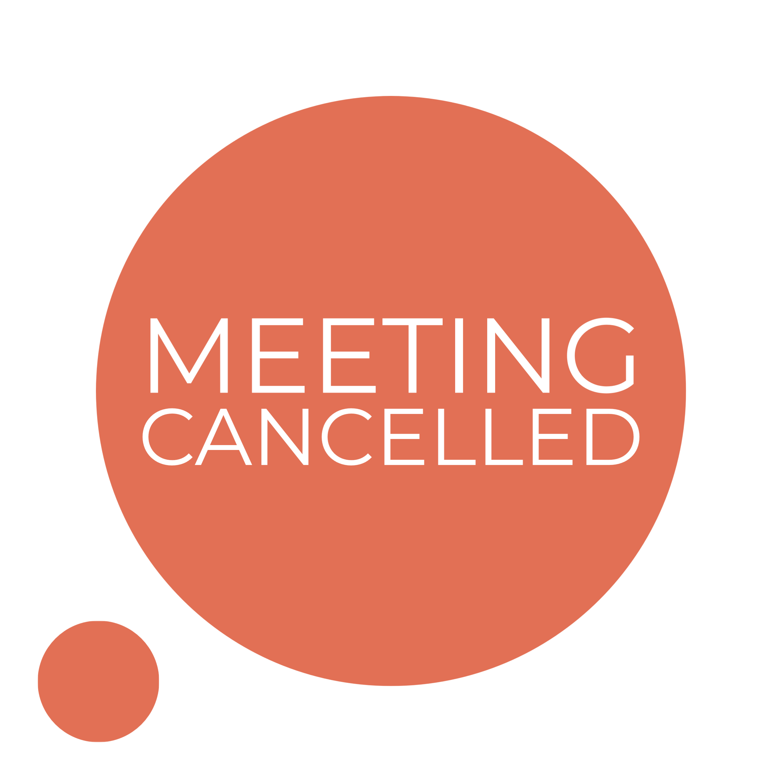 April Meeting Cancelled